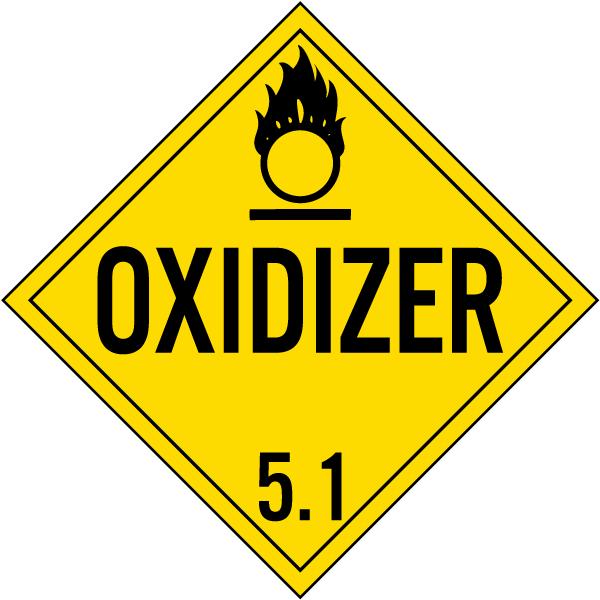 Oxidizer Class 51 Placard K5629 By Safetysign