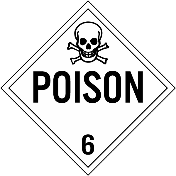 Poison Class 6 Placard K5632 By Safetysign