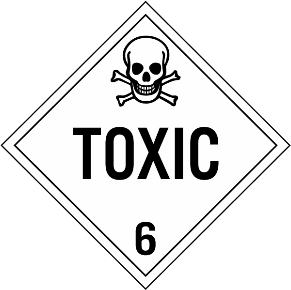 Toxic Class 6 Placard K5649 By Safetysign