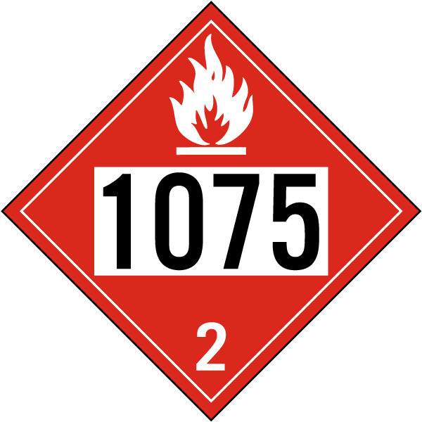 Un 1075 Flammable Gas Class 2 Placard K5701 By Safetysign