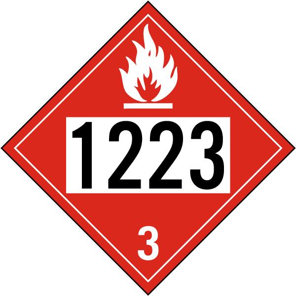 Un 1223 Flammable Liquid Class 3 Placard K5704 By Safetysign