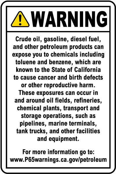 This Tank Contains Diesel Fuel For Off-Highway OSHA WARNING Sign