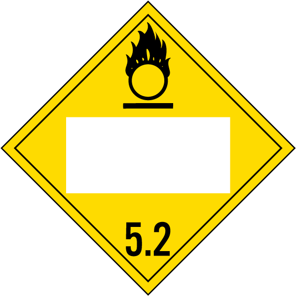 blank organic peroxide class 5 2 placard l1282 by safetysign com
