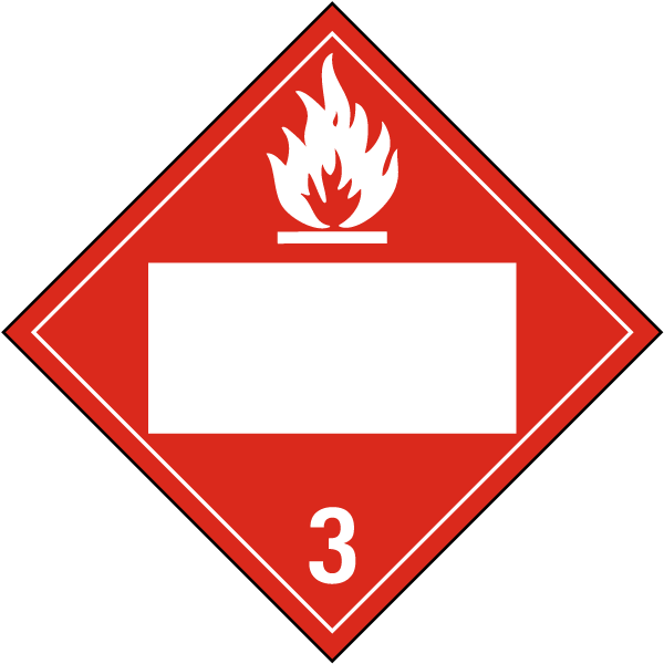 Blank Flammable Liquid Class 3 Placard L1284 By Safetysign