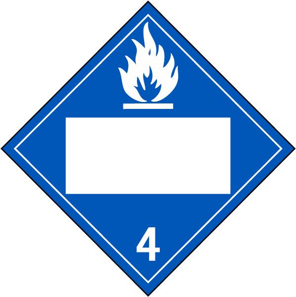 Blank Dangerous When Wet Class 4 Placard L1290 By