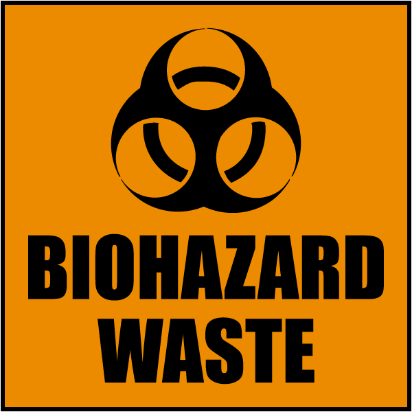 Biohazard Waste Label By Safetysign Com L2438
