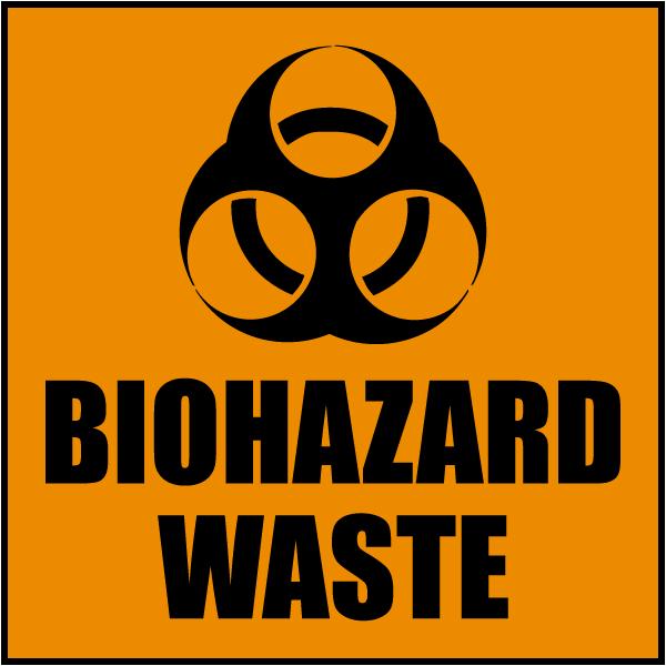 Biohazard Waste Label L2438 By Safetysign