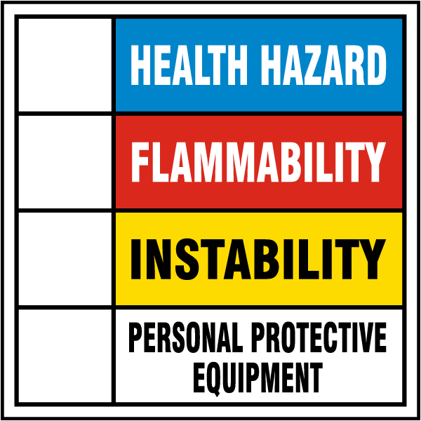 Hazardous Material Diamond: Hazardous Material Rating Sign M3328