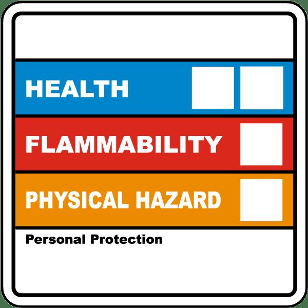 Hazardous Material Diamond: Chemical Idenification Label By SafetyLabel.com