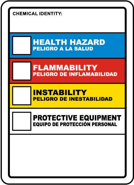 Bilingual Hazardous Material ID Sign / Label