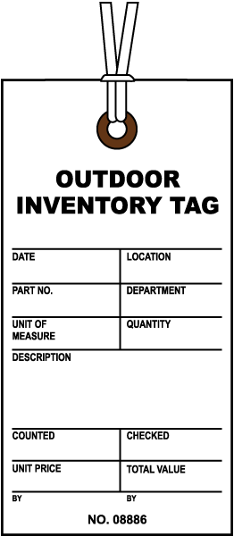 Outdoor Inventory Tag N3585 - by SafetySign.com