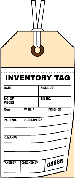 Inventory Tag N3587 - by SafetySign.com