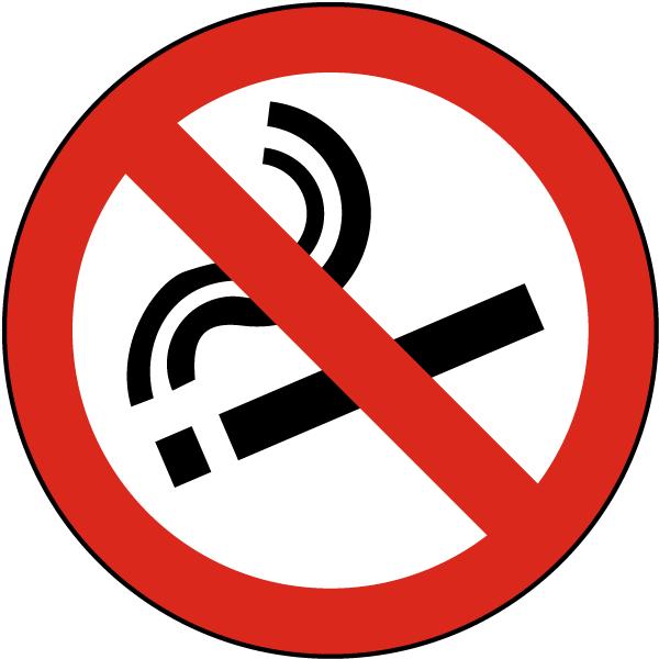 Item P4319 Floor Sign Design International No Smoking Symbol