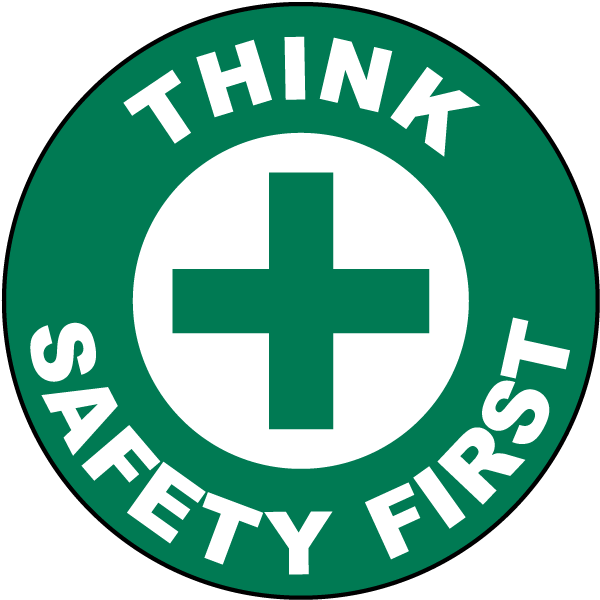 Think Safety First Floor Sign P4339 By Safetysign