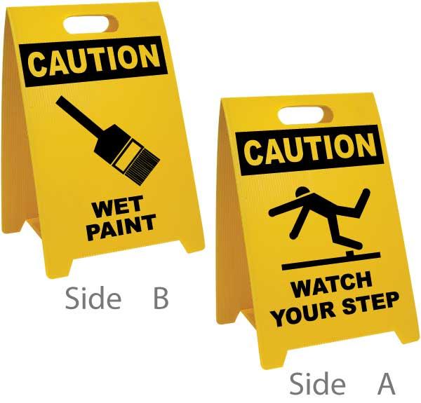 Wet Paint Watch Your Step Floor Sign