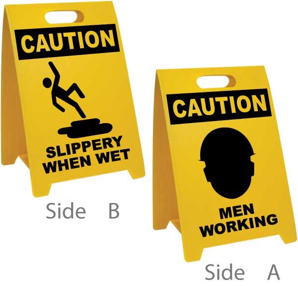 Slippery When Wet Men Working Floor Sign P5471 By