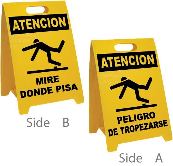 Spanish Watch Your Step / Trip Hazard Floor Sign