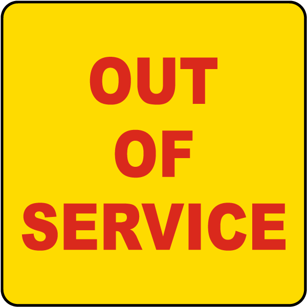 Out of Service Label R1483 - by SafetySign.com