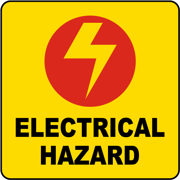 Electrical Hazard Label By Safetysign Com R1490