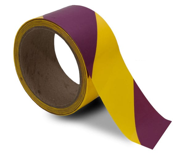 Wonderful Magenta / Yellow Striped Floor Tape