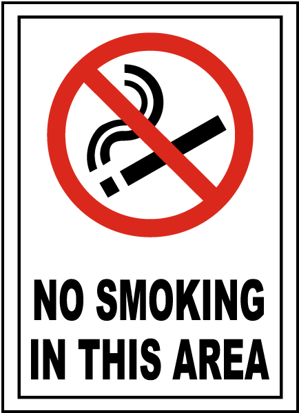 No Smoking Sign - First Safety Signs
