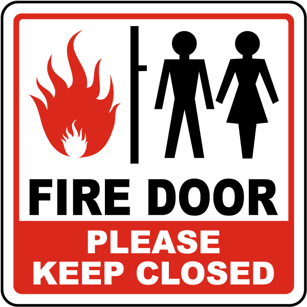 Fire Safety Doors : Fire door please keep close sign r by safetysign