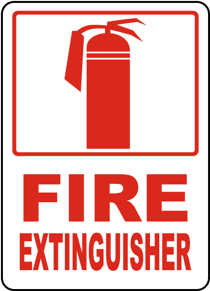 Image result for fire extinguisher sign