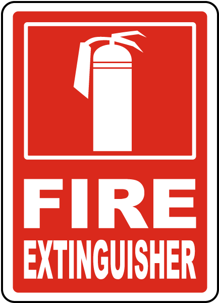 Fire Extinguisher Sign By Safetysign Com R5433