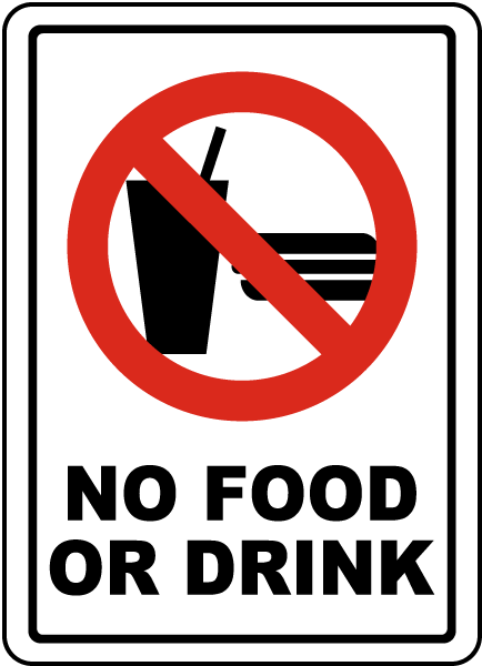 No Food or Drink Sign R5436 - by SafetySign.com