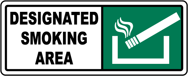Designated Smoking Area Sign R5445 - by SafetySign.com