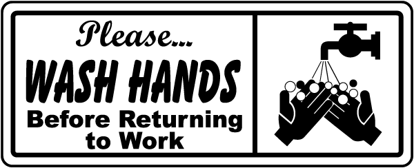 Bathroom Signs Wash Hands wash hands before returning sign r5449 -safetysign