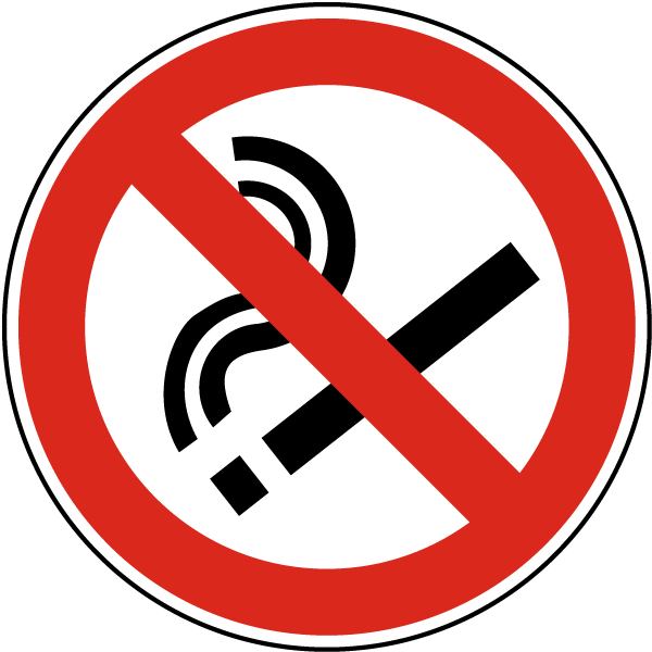 No Smoking Symbol Label R5454 By Safetysign