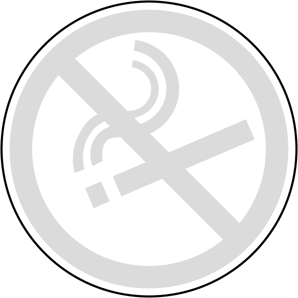 No Smoking Symbol Label R5455 By Safetysign