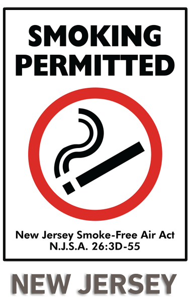 New Jersey Smoking Permitted Sign