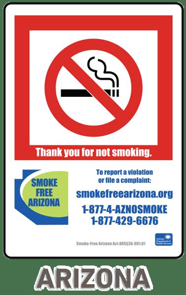 arizona no smoking sign r5701 by safetysign com