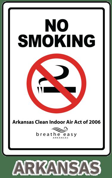 Arkansas No Smoking Sign - R5702. State No Smoking Signs by SafetySign ...