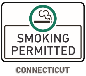 Connecticut No Smoking Sign R5748 - by SafetySign.com