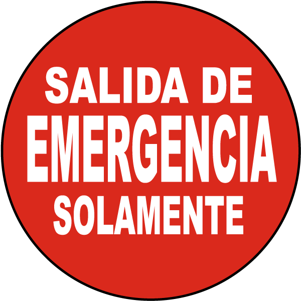 Spanish Emergency Exit Floor Sign