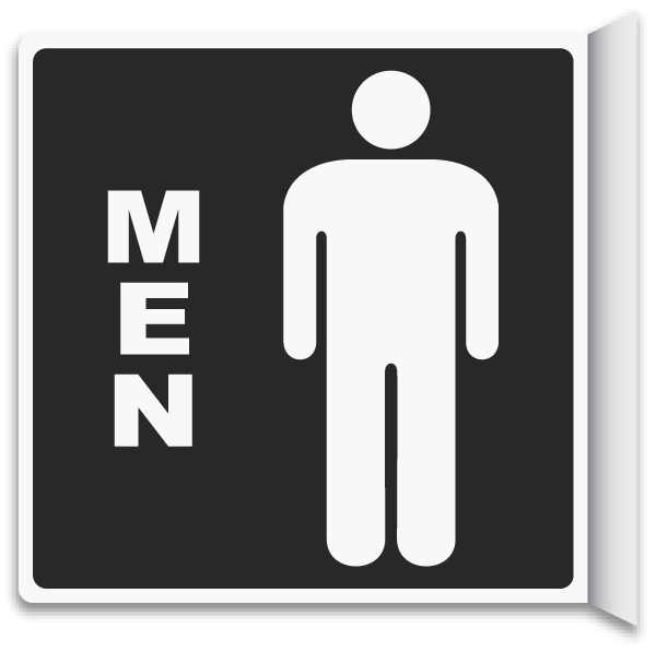 2 Way Men s Restroom Sign. 2 Way Men s Restroom Sign T4334   by SafetySign com