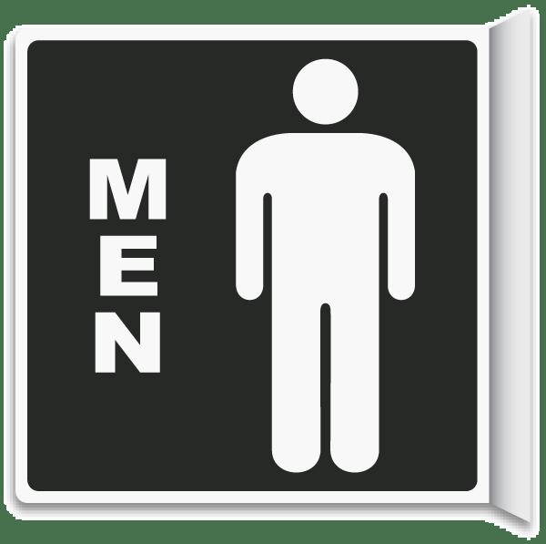 Way Men Restroom Sign T4334 Restroom Door Signs By