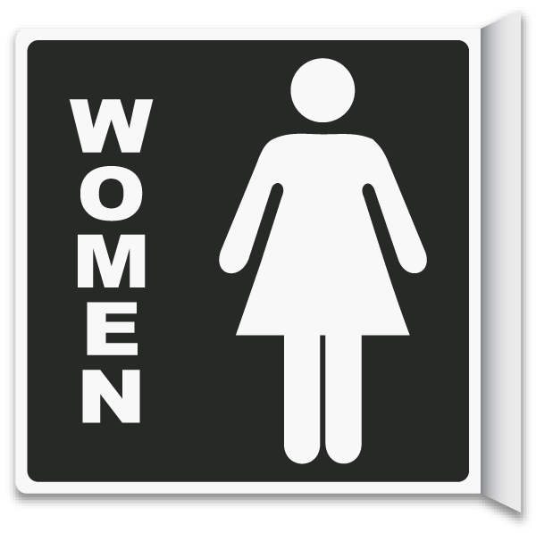 Bathroom Signs With Arrows 2-way women's restroom sign t4335 -safetysign