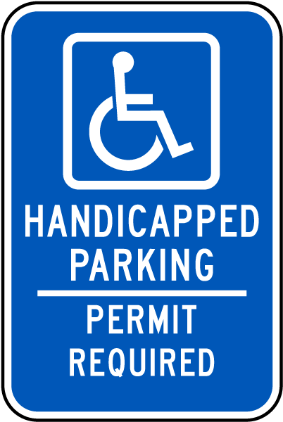 Handicapped Parking Permit Required Sign T4552 - by ...
