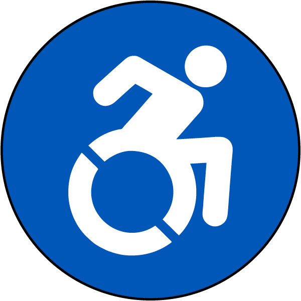 New Accessible Symbol T4628 By Safetysign