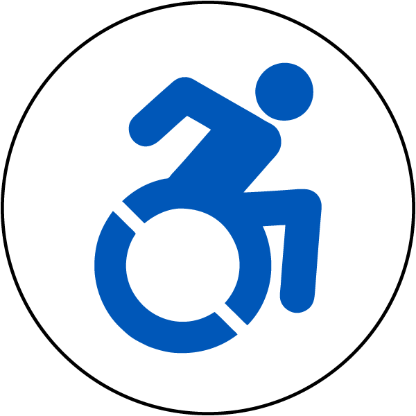 New Accessible Symbol T4629 By Safetysign