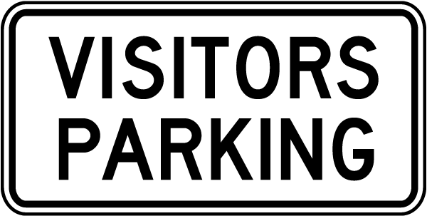Visitors Parking Sign T5285 - by SafetySign.com