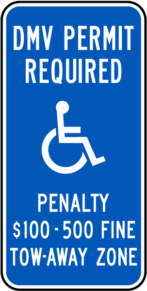 Fairfax County Virginia Accessible Parking Sign T5344 - by ...
