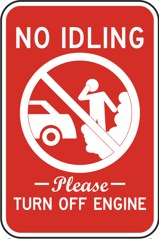 No Idling Turn Off Engine Sign By Safetysign Com T5519
