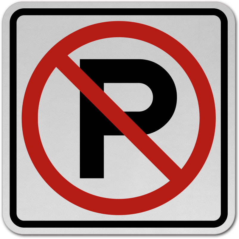 No Parking Sign W3625 By Safetysigncom