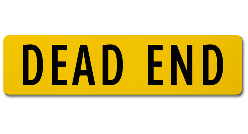 flat blade dead end street name sign -safetysign