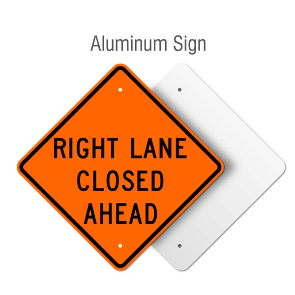 Right lane closed ahead sign x4601 ahd by safetysign right lane closed ahead sign malvernweather Image collections